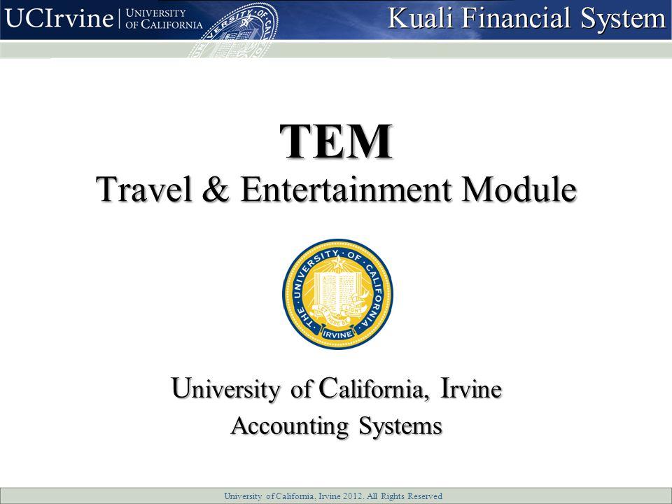 University of California, Irvine 2012.