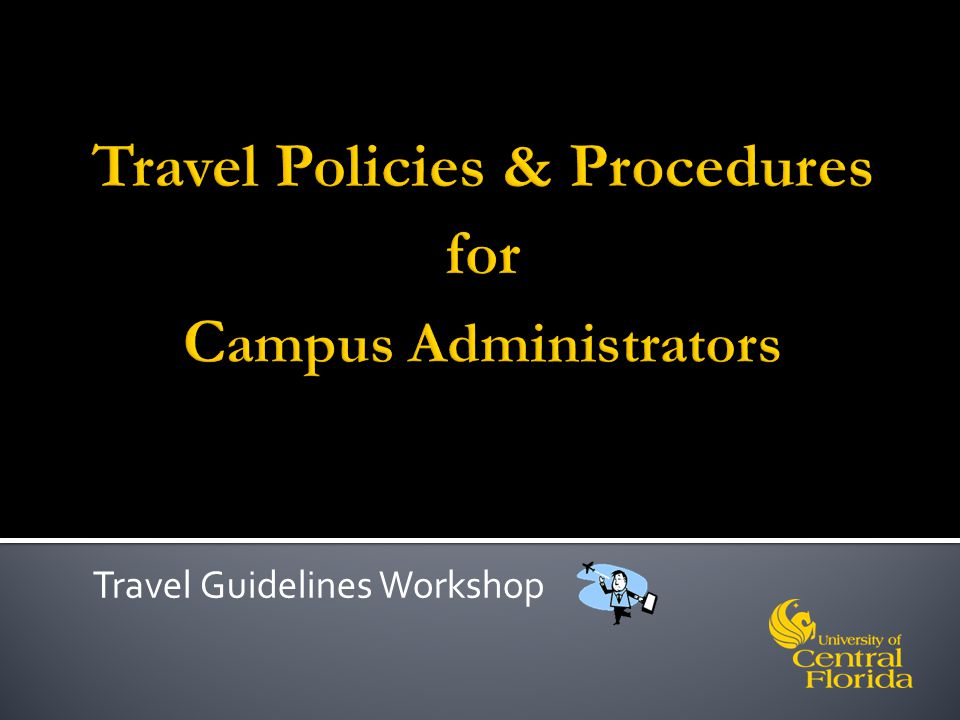 Travel Guidelines Workshop