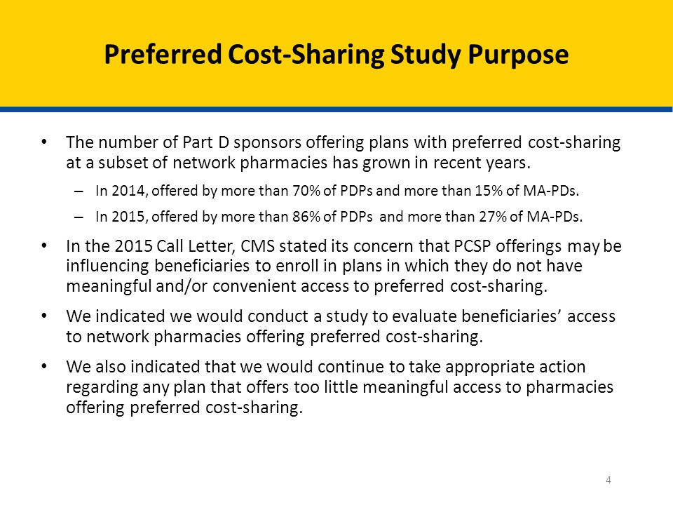 Identified Prescription Drug Plans (PDPs) and Medicare Advantage Prescription Drug Plans (MA-PDs) with preferred cost-sharing based on their plans' approved 2014 benefit as it appears in HPMS.
