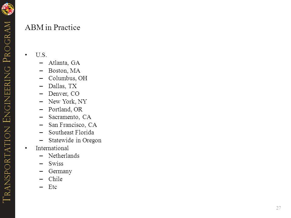 ABM in Practice U.S.