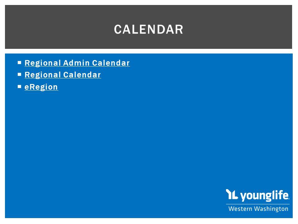  Regional Admin Calendar Regional Admin Calendar  Regional Calendar Regional Calendar  eRegion eRegion CALENDAR