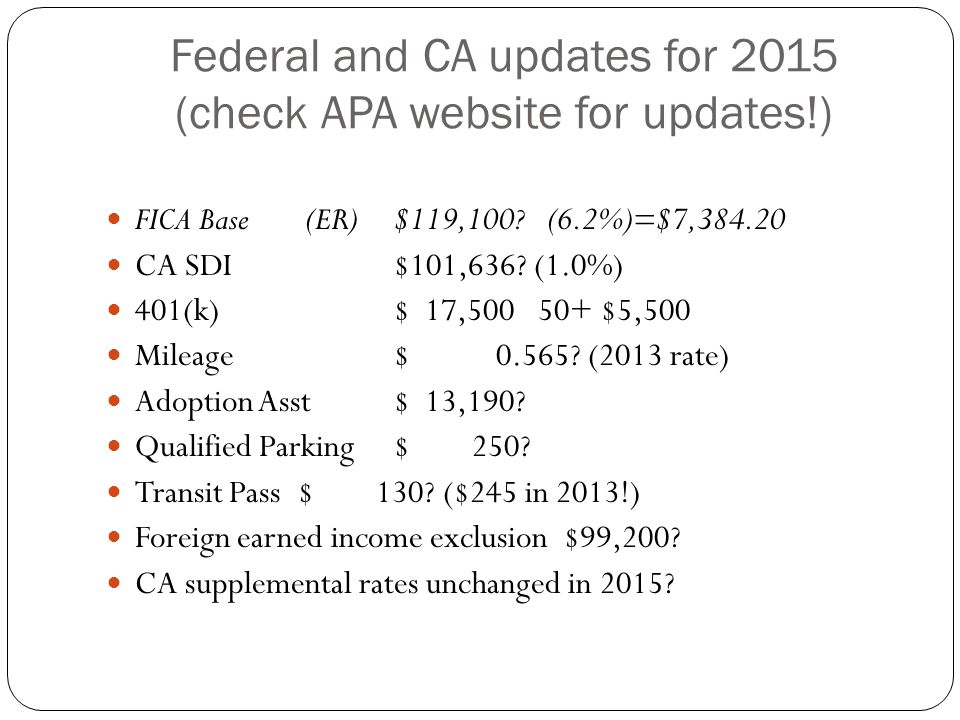 ACA: what payroll needs to know On January 1, 2015 employers averaging or expected to average 100 or more FT employees (or FT equivalents) will be subject to the coverage mandate.