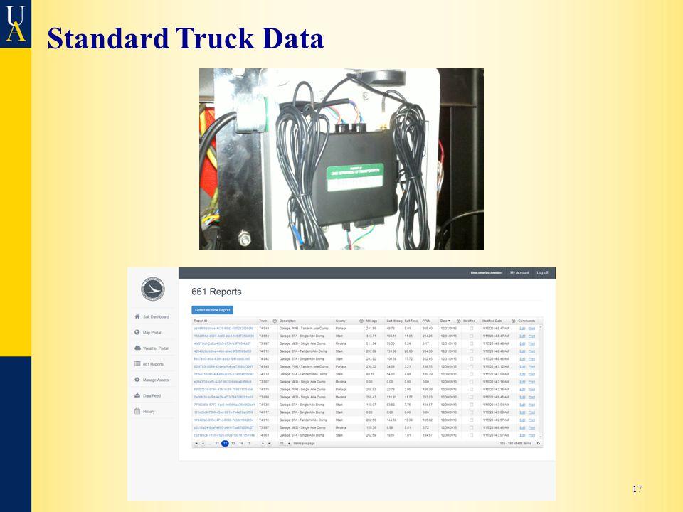 Standard Truck Data 17