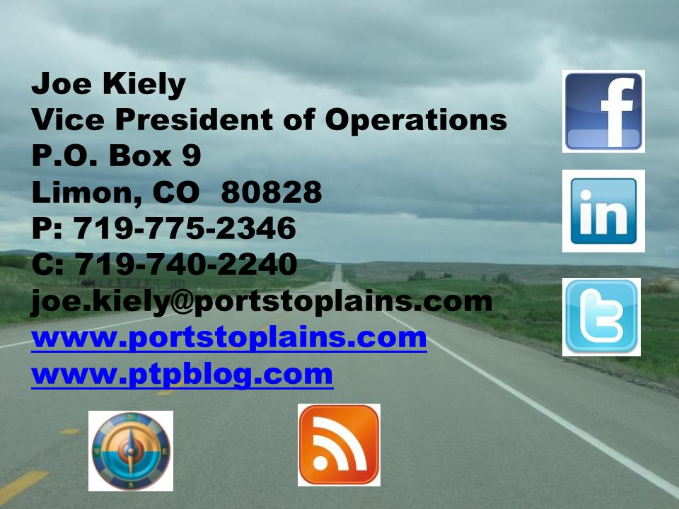 Joe Kiely Vice President of Operations P.O.