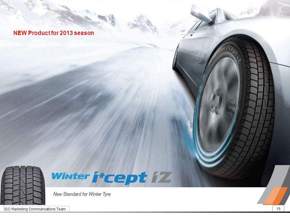 EU) Marketing Commuincations Team 15 NEW Product for 2013 season