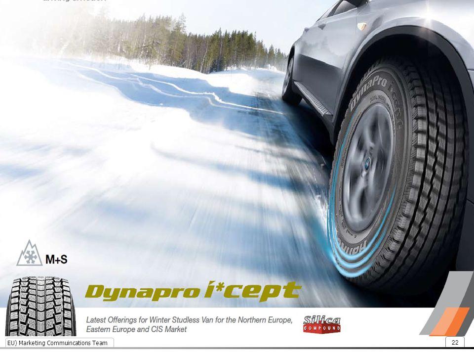EU) Marketing Commuincations Team 22 Snow braking performance enhanced by 9%