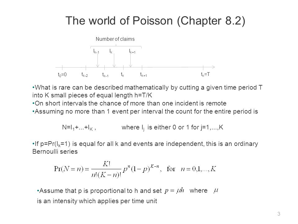 The model (Section 8.4) 14 In likelihood estimation it is assumed that n j is Poisson distributed where is tied to covariates x j1,...,x jv as in (1.12).