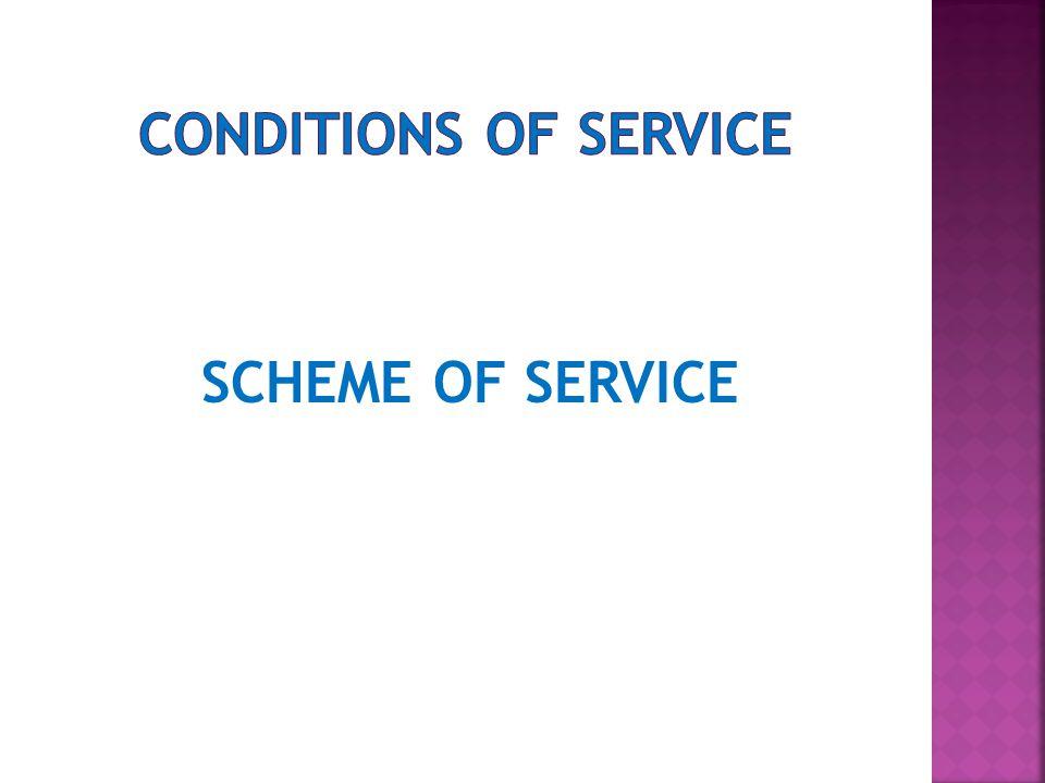 SCHEME OF SERVICE