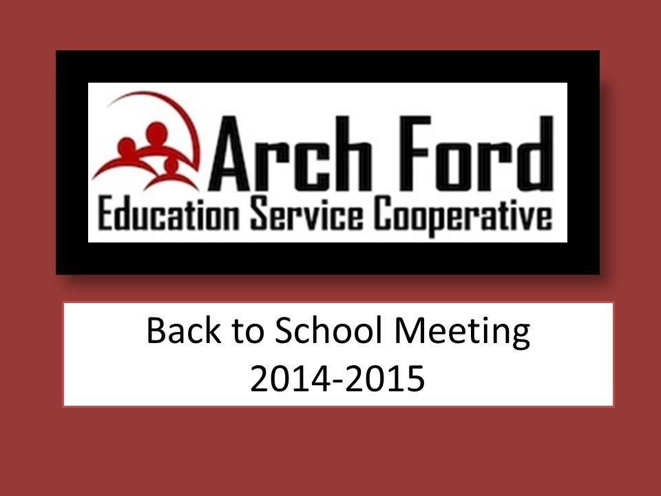 Back to School Meeting 2014-2015