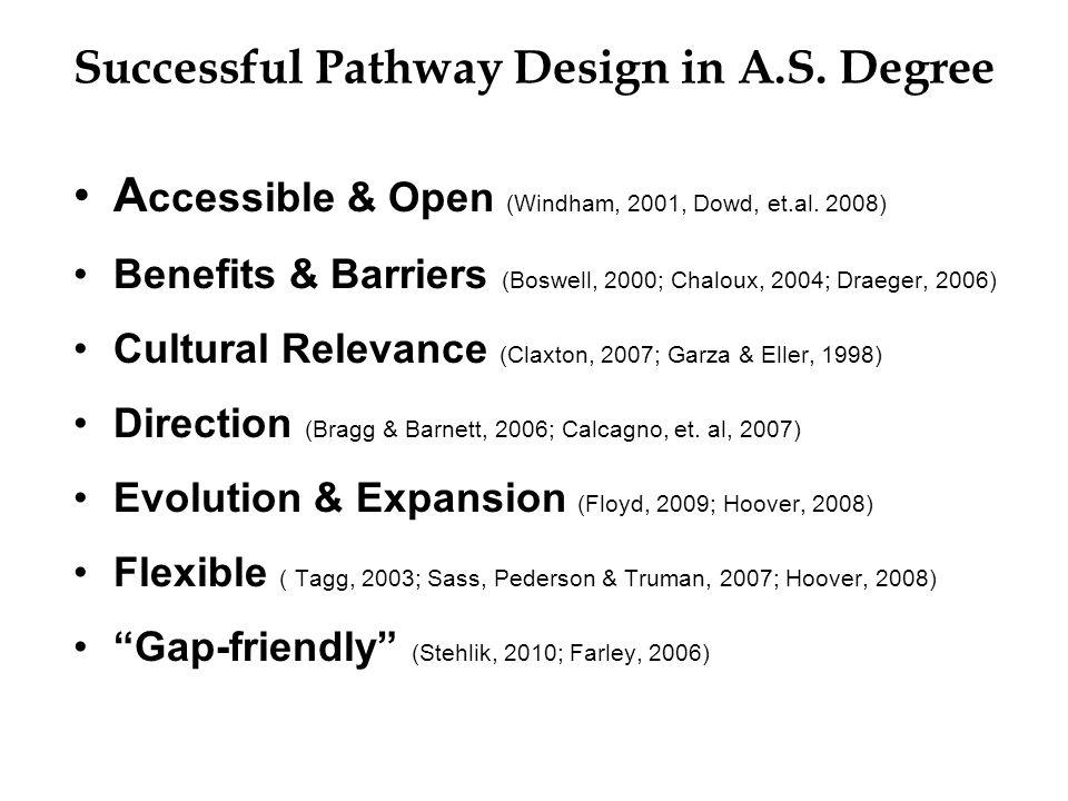 A ccessible & Open (Windham, 2001, Dowd, et.al.