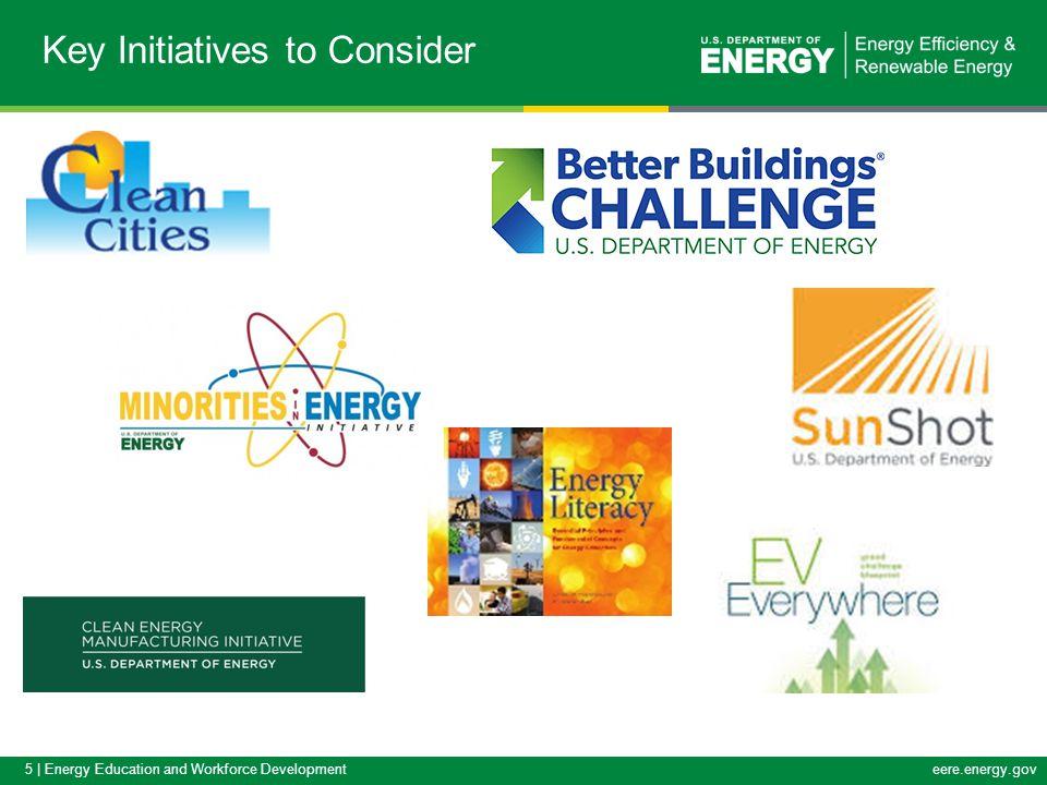 5 | Energy Education and Workforce Developmenteere.energy.gov Key Initiatives to Consider