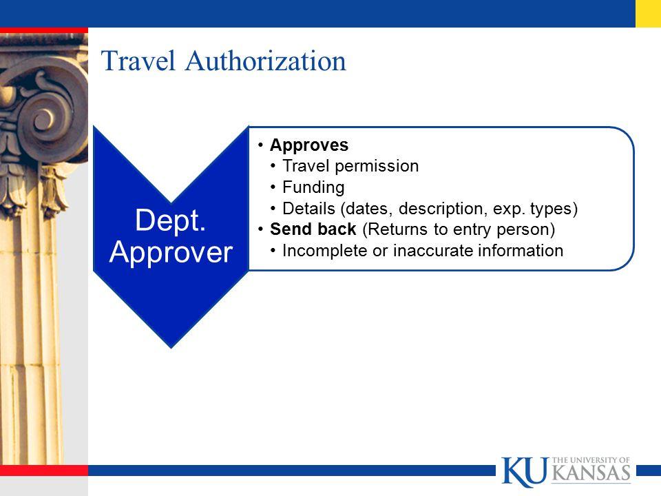 Travel Authorization Dept.