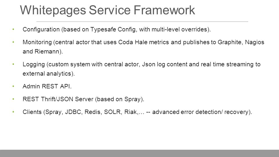 Whitepages Service Framework Configuration (based on Typesafe Config, with multi-level overrides).