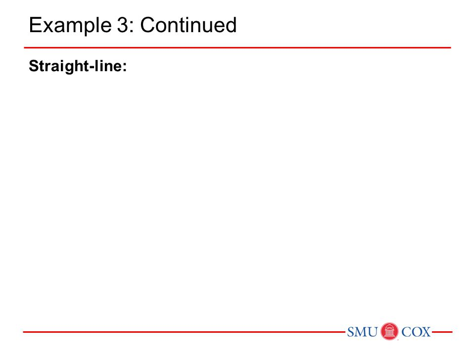 Example 3: Continued Straight-line: