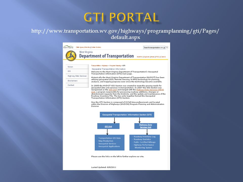 http://www.transportation.wv.gov/highways/programplanning/gti/Pages/ default.aspx