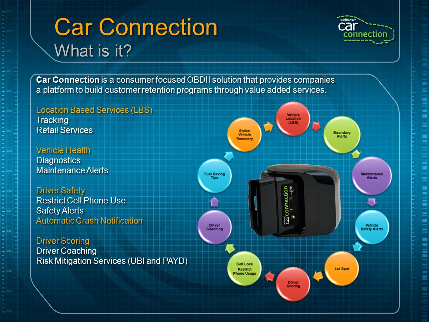 Car Connection Web UI