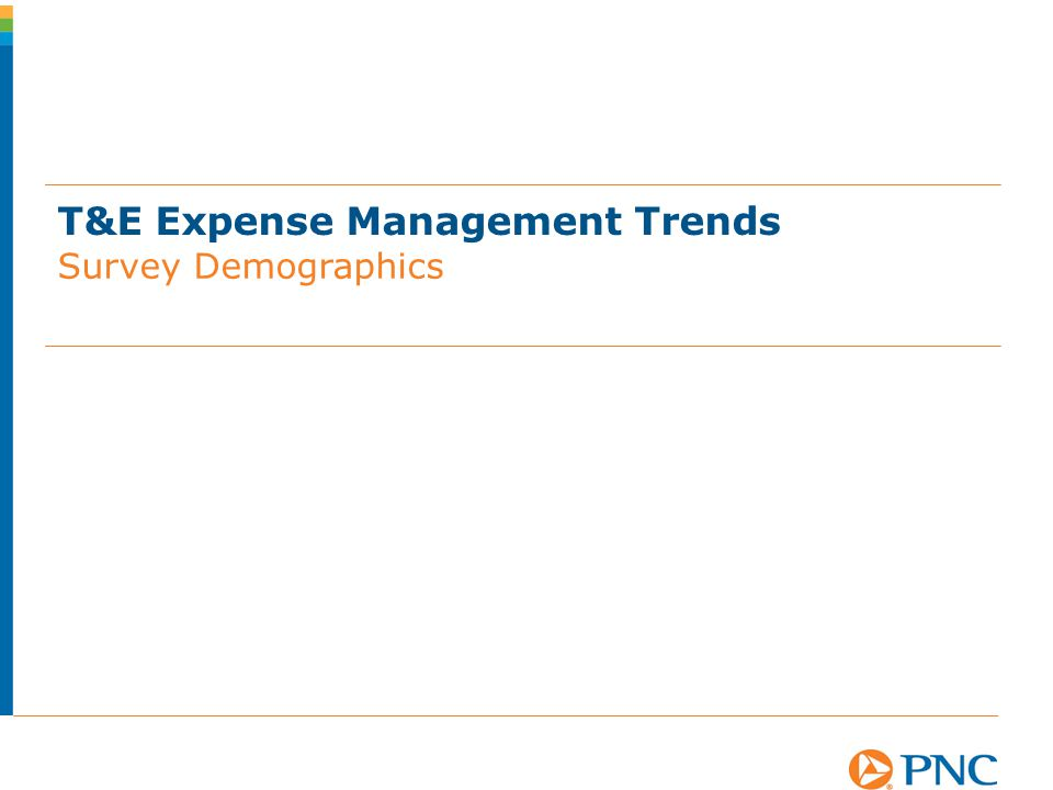 T&E Expense Management Trends Survey Demographics