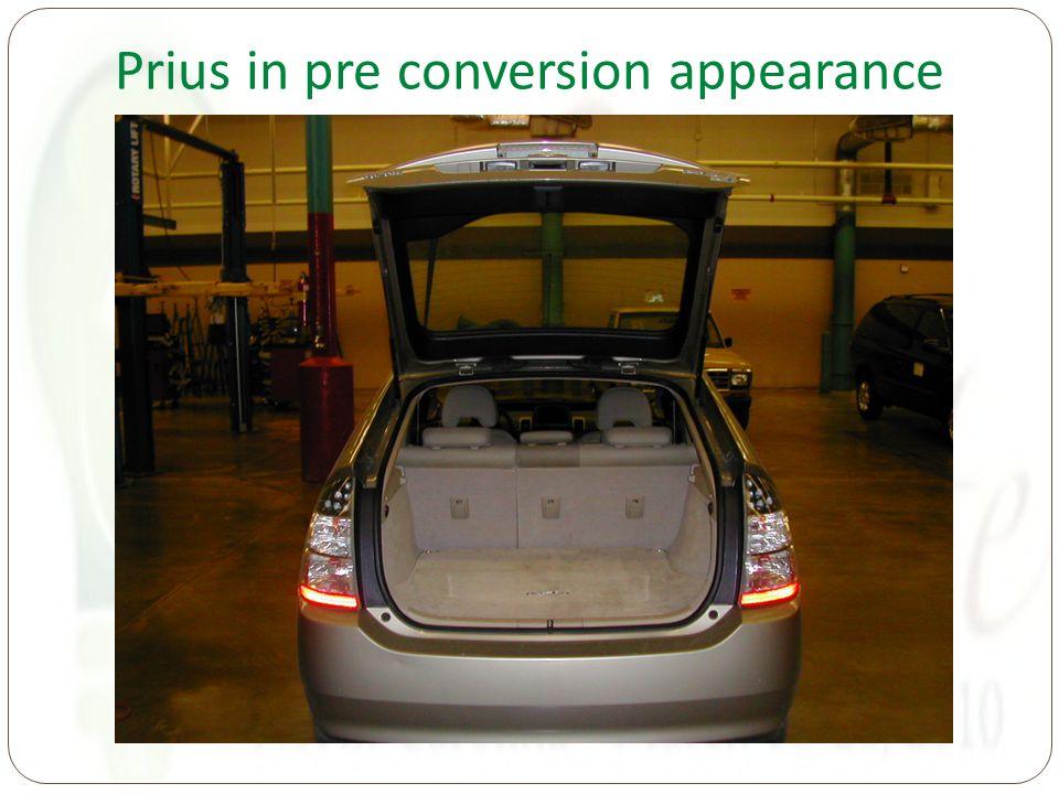 Prius in pre conversion appearance