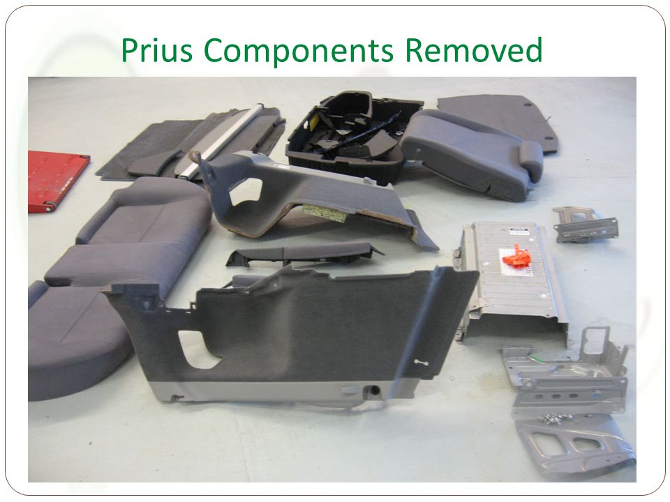 Prius Components Removed
