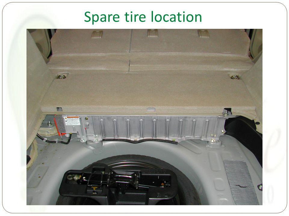 Spare tire location