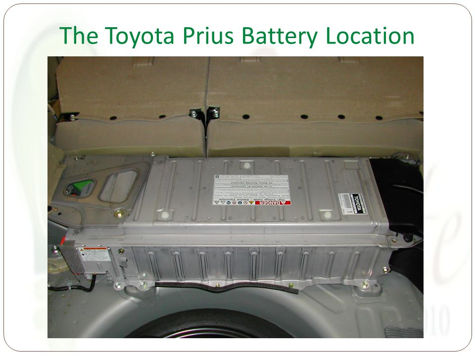 The Toyota Prius Battery Location