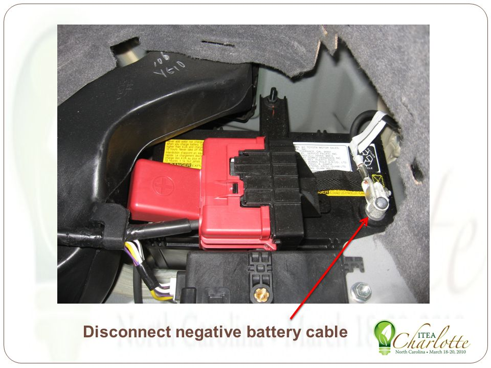 Disconnect negative battery cable