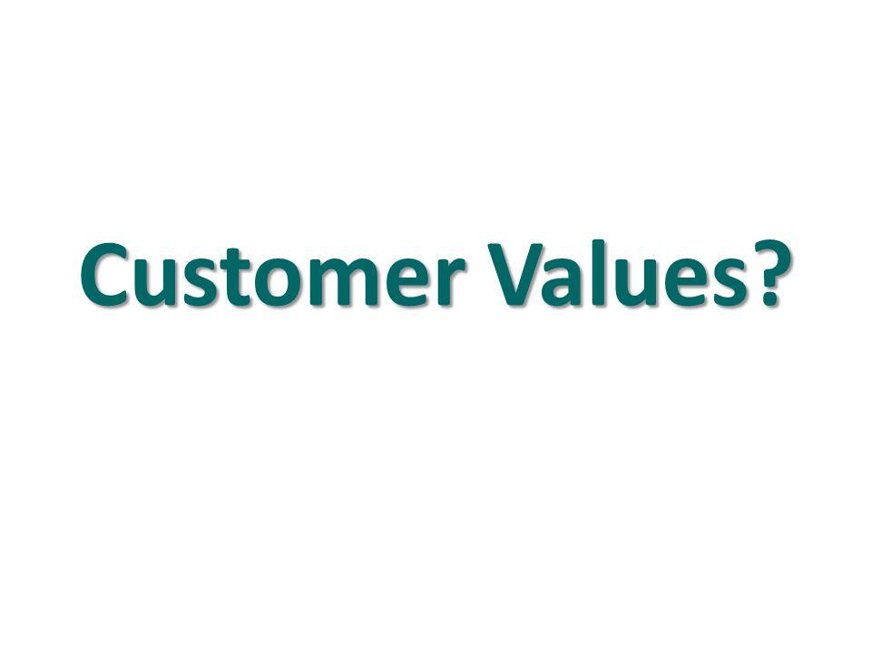 Customer Values?