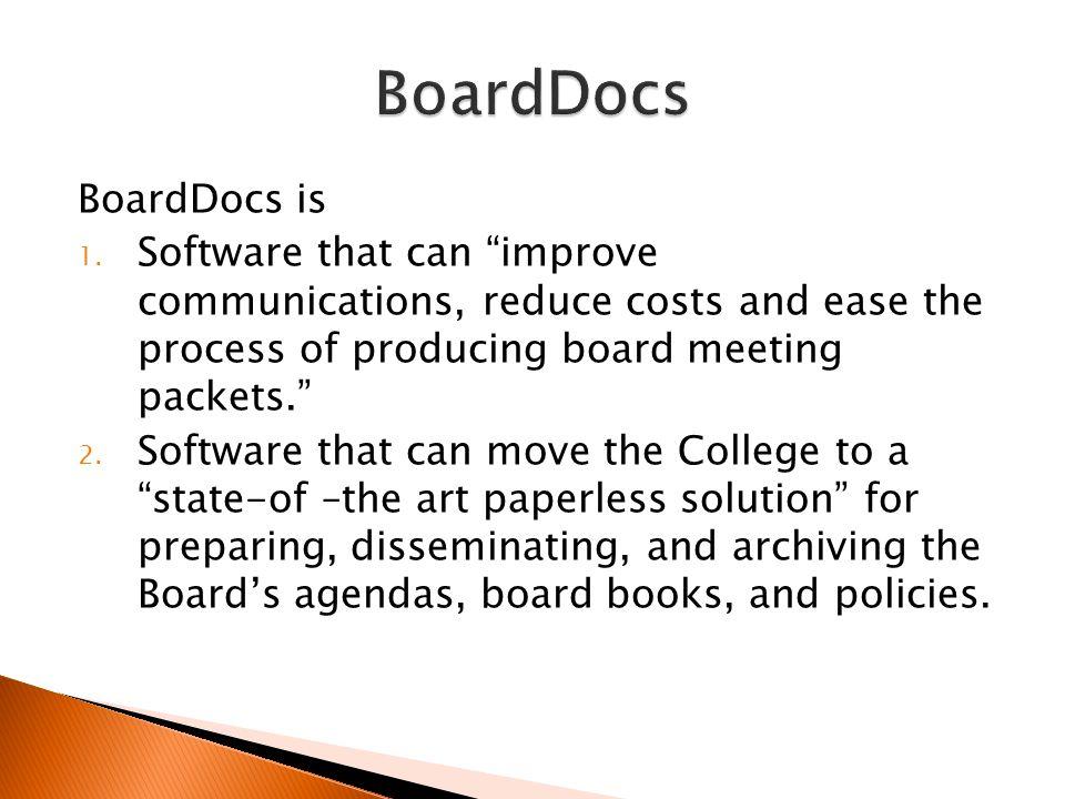 BoardDocs is 1.