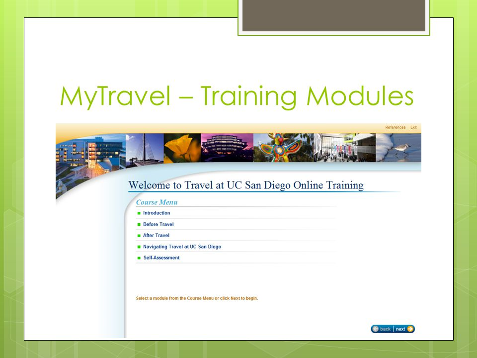 MyTravel – Training Modules
