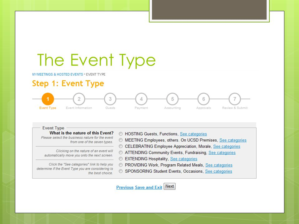 The Event Type