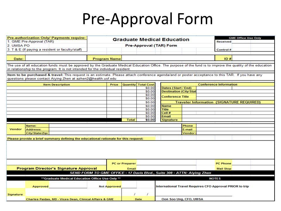 Pre-Approval Form