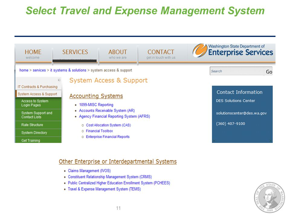 Select Travel and Expense Management System 11