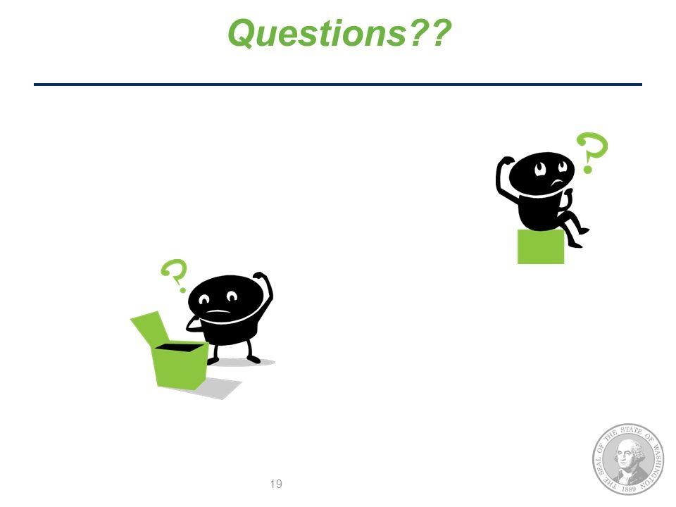 19 Questions??
