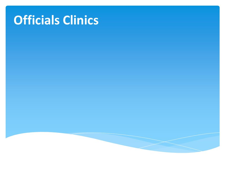 Officials Clinics