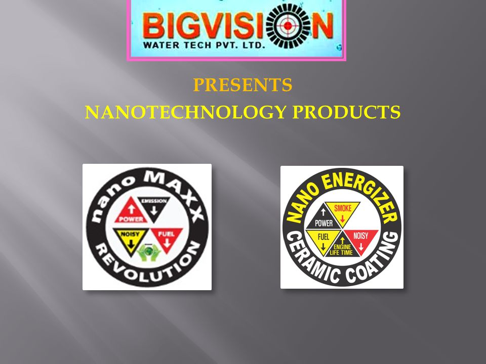 PRESENTS NANOTECHNOLOGY PRODUCTS