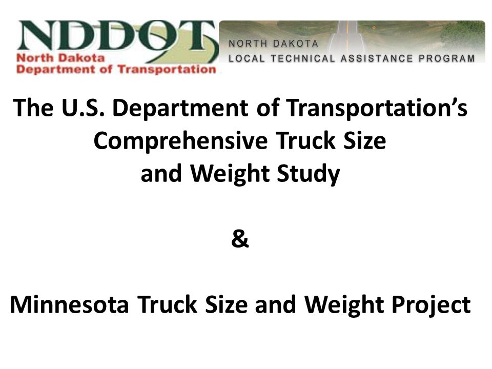 Summary Challenge is to find balance in truck size and weight versus impacts.