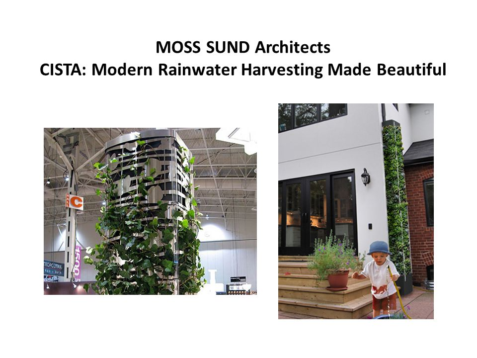 MOSS SUND Architects CISTA: Modern Rainwater Harvesting Made Beautiful