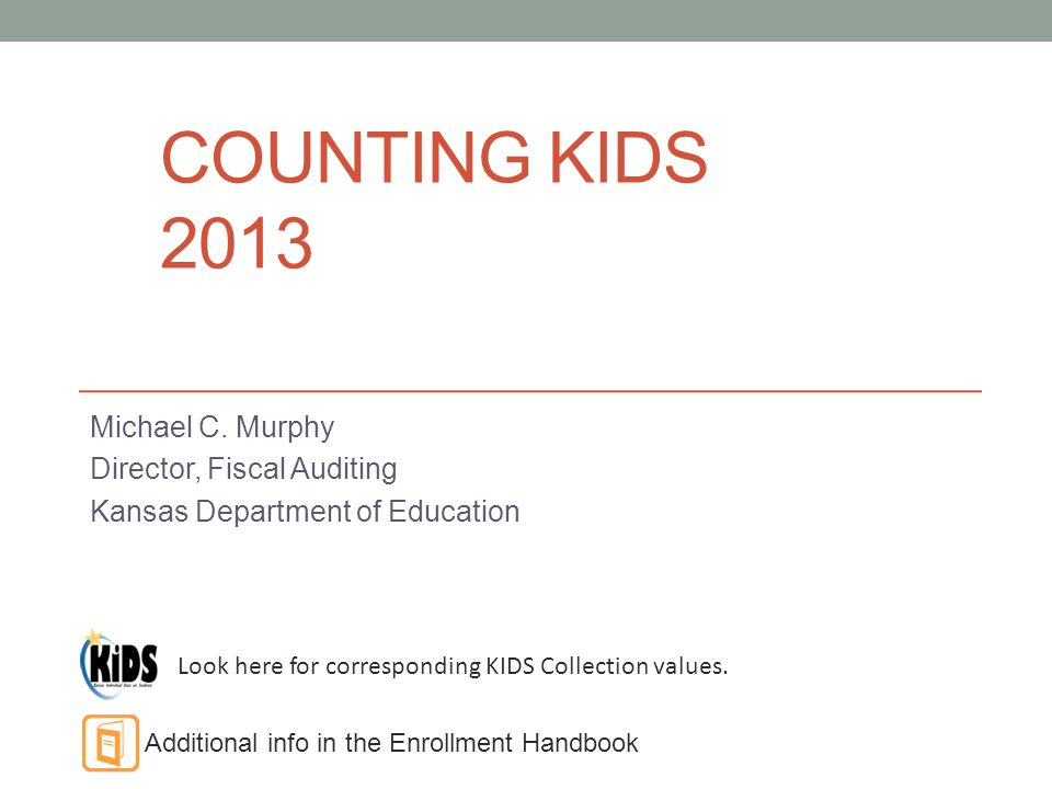 COUNTING KIDS 2013 Michael C.