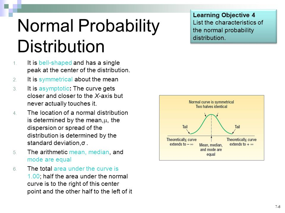7-6 Normal Probability Distribution 1.