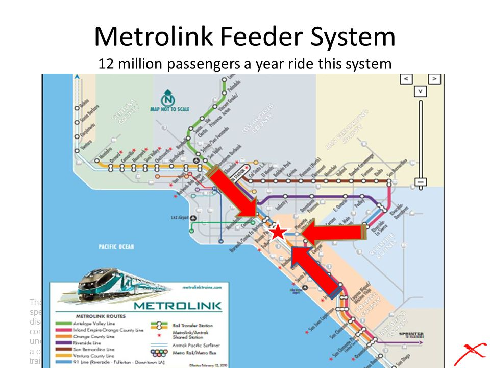 Metrolink Feeder System 12 million passengers a year ride this system These are examples of specifications and drawing disclosures of the train concep