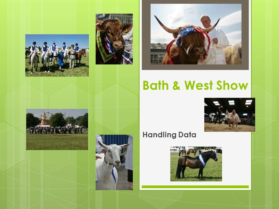 Bath & West Show Handling Data