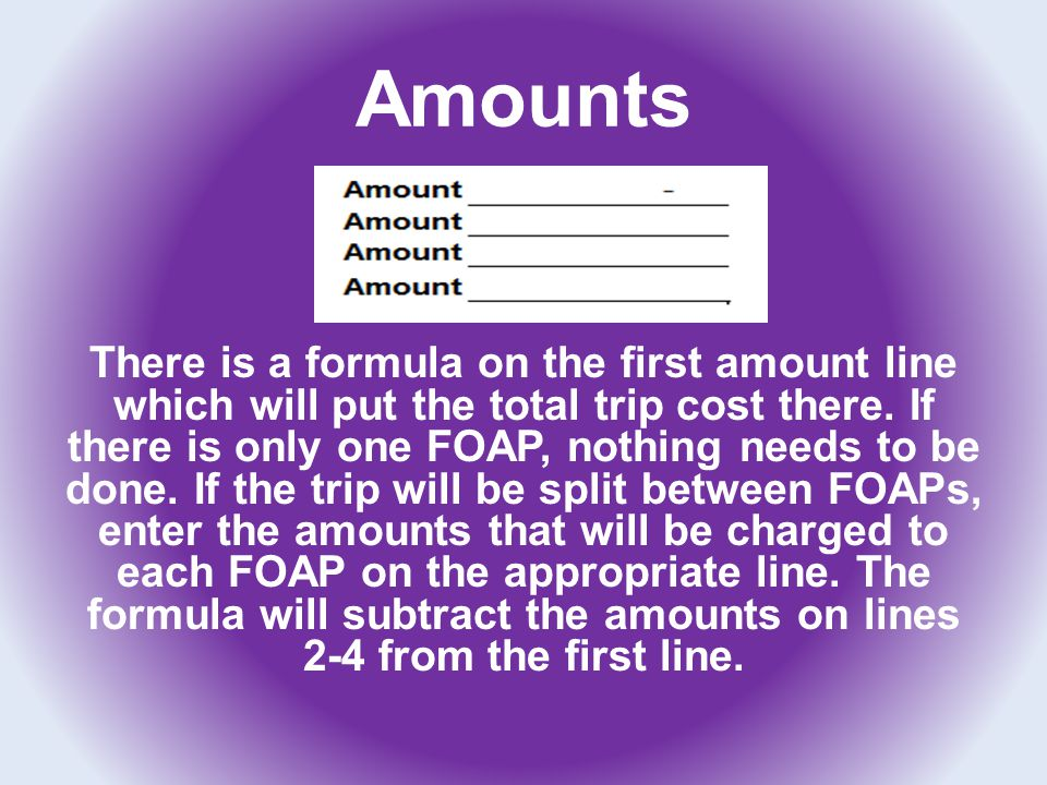 Summary If a cash advance was received please enter it on the line provided.