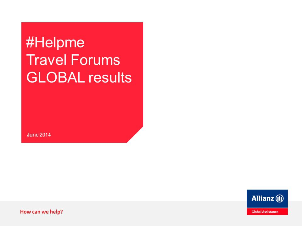 #Helpme Travel Forums GLOBAL results June 2014
