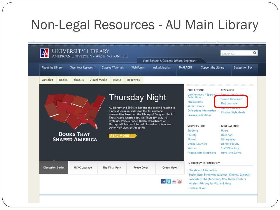Non-Legal Resources - AU Main Library