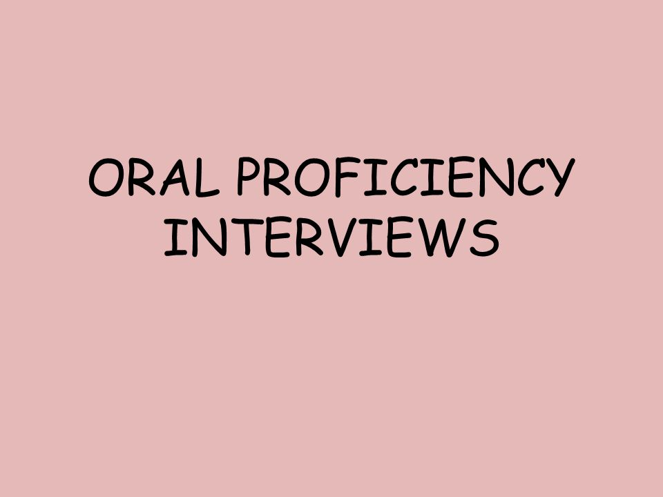 The OPI takes the form of a carefully structured conversation between a trained and certified interviewer (ACTFL) and the person whose speaking proficiency is being assessed (the candidate).