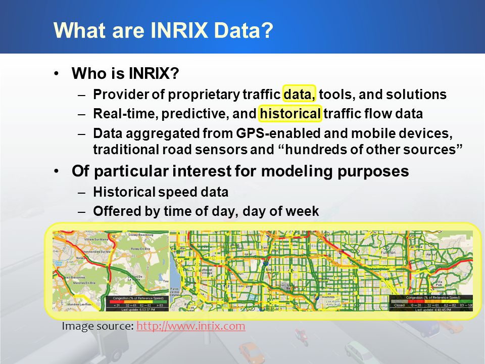 What are INRIX Data. Who is INRIX.