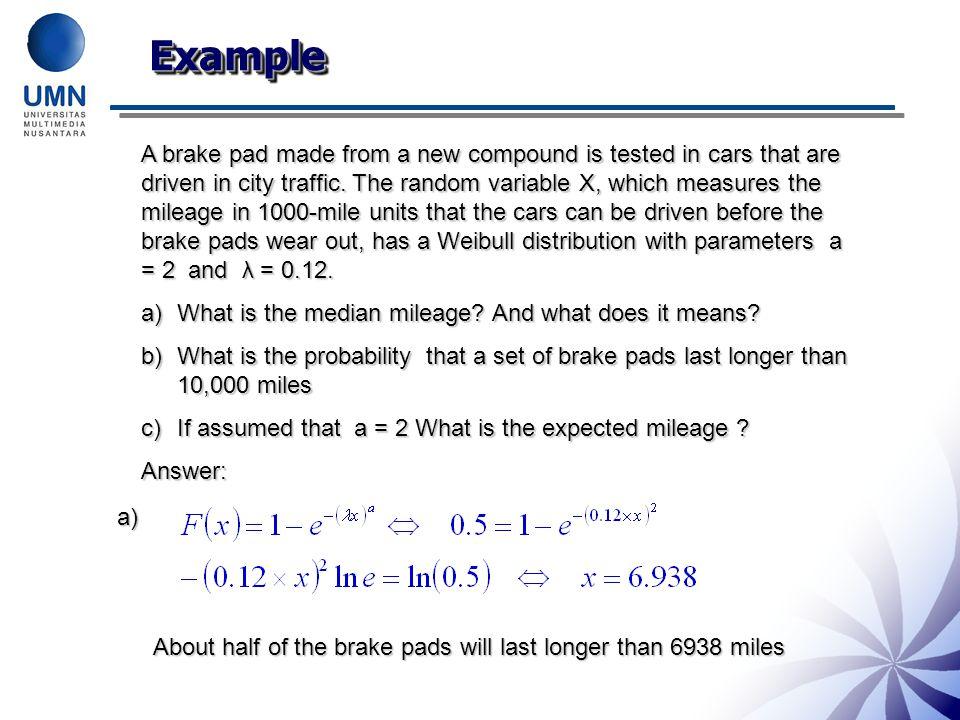 Example Solution b)c)