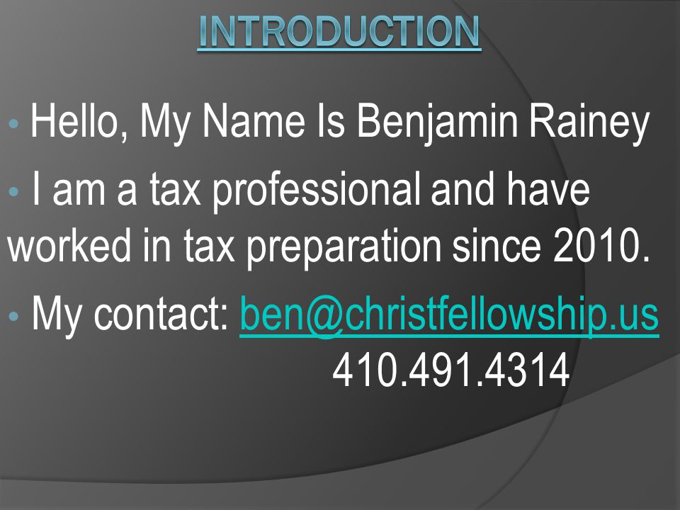 My Aim: 1.To make you familiar with the tax provisions that specifically related to Clergy.