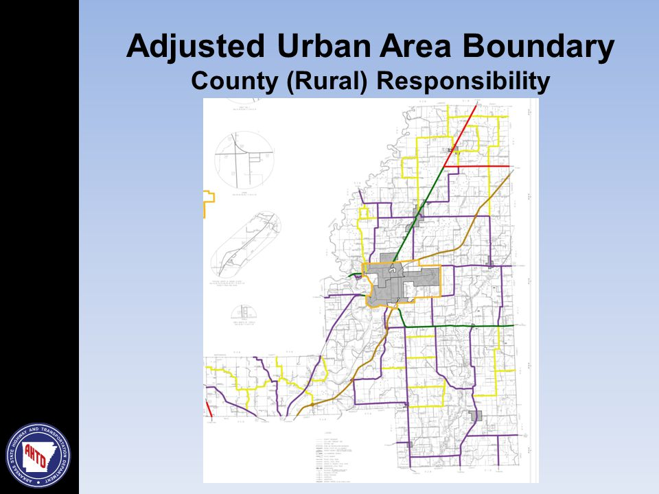 Adjusted Urban Area Boundary County (Rural) Responsibility