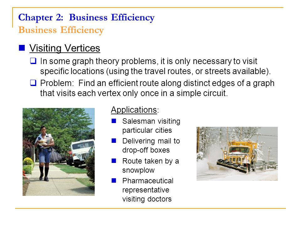 Chapter 2: Business Efficiency Hamiltonian Circuits Road mileage between four cities